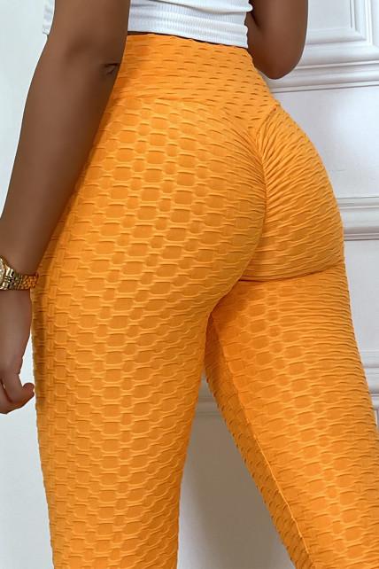 Legging push-up orange anti cellulite effet minceur